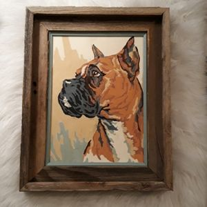 Vintage paint by number dog